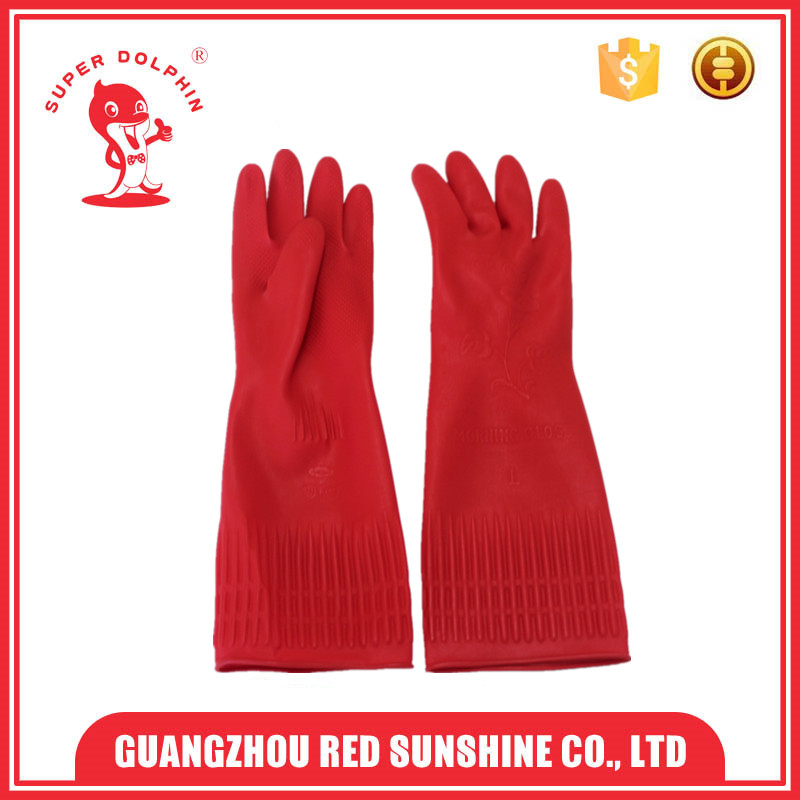 Winter Kitchen Washing Long Latex Cleaning Gloves