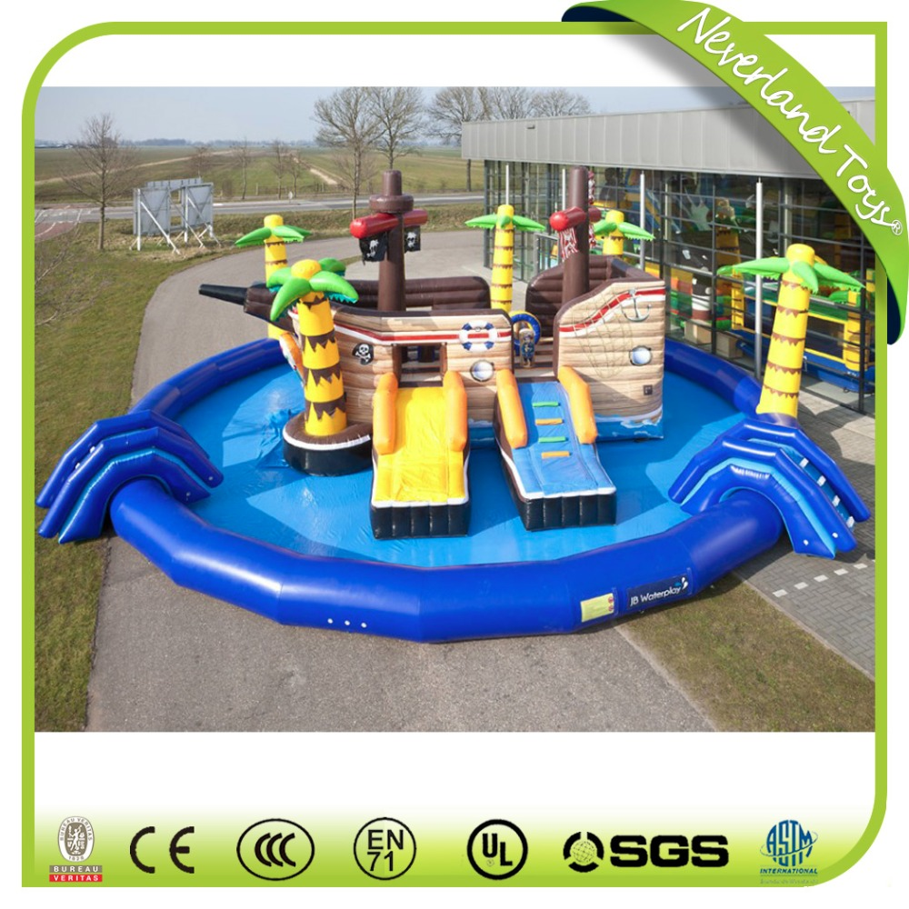 Inflatbale Pirate Ship With Swimming Pool,Kids Inflatable Water Park, Inflatable Water Slide For Sale   Buy Inflatable Pool,Inflatable Water  Slide,Inflatable ...