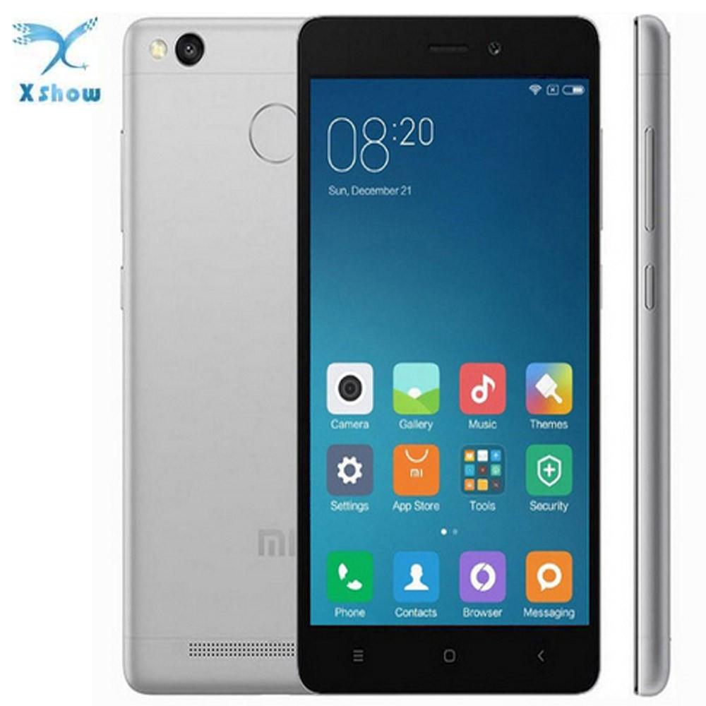 Original Xiaomi Redmi 3s 3 S Mobile Phone 4100mah Battery Fingerprint Id  Snapdragon 430 Octa Core 5