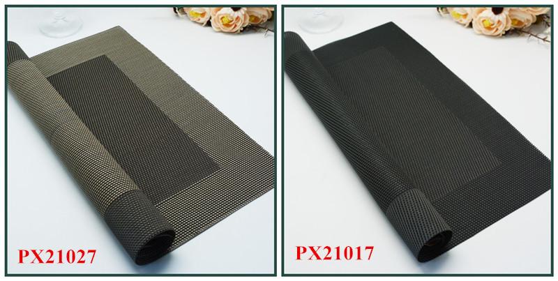 black color woven pvc fabric design dinner kitchen placemats table food mat napkin. beautiful ideas. Home Design Ideas