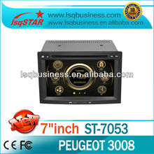 car dvd gps for peugeot 3008 accessories with GPS Navigation ipod TV SWC 6 disc 3G fast delivery