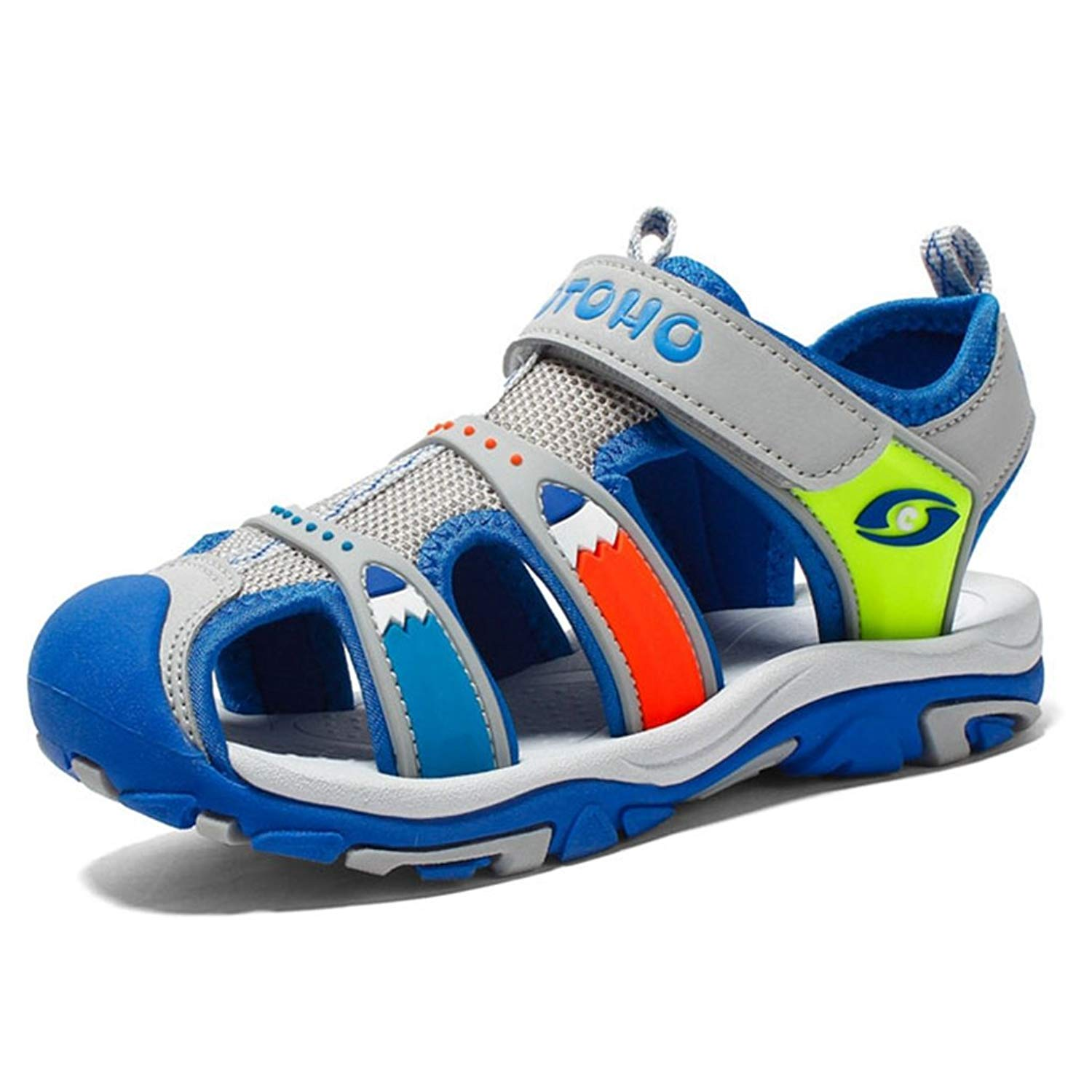 fedec8369f0888 Get Quotations · Boys  and Girls  Summer Outdoor Beach Kid Fisherman Sports  Closed-Toe Athletic Sandals