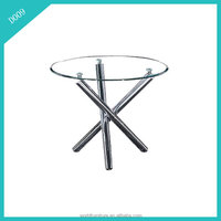 simple design round glass dining table set