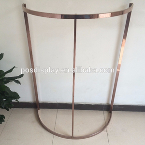 Rose gold steel clothing display shelf high quality steel display