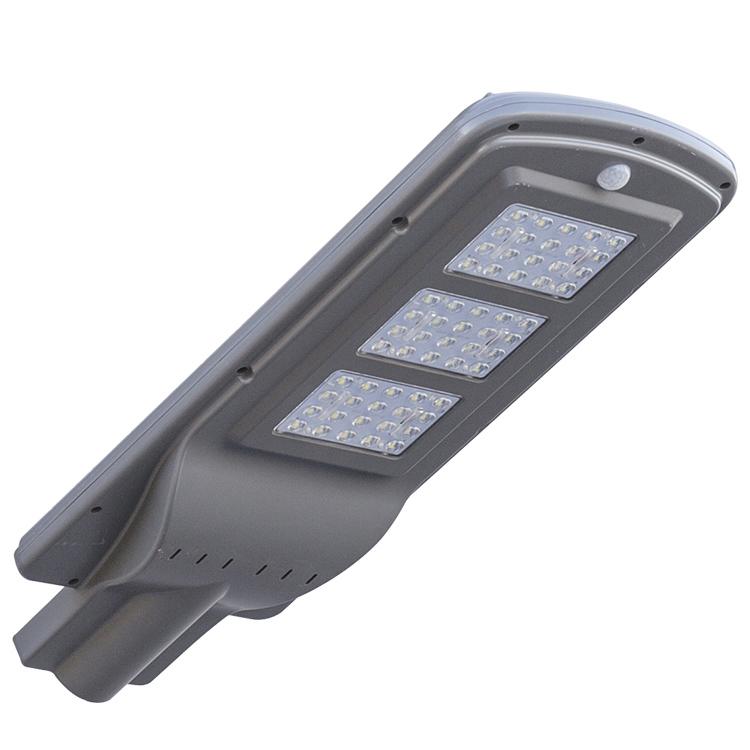 High lumen SMD 10w 20w 40w 50w 60w 100w IP65 outdoor integrated motion sensor all in one solar led street light price