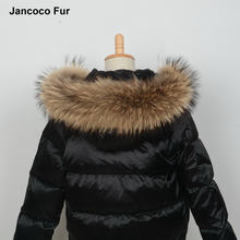 Quality Primacy Real Raccoon Fur Trimming Collar For Kids Adult Coat Hooded Fashion