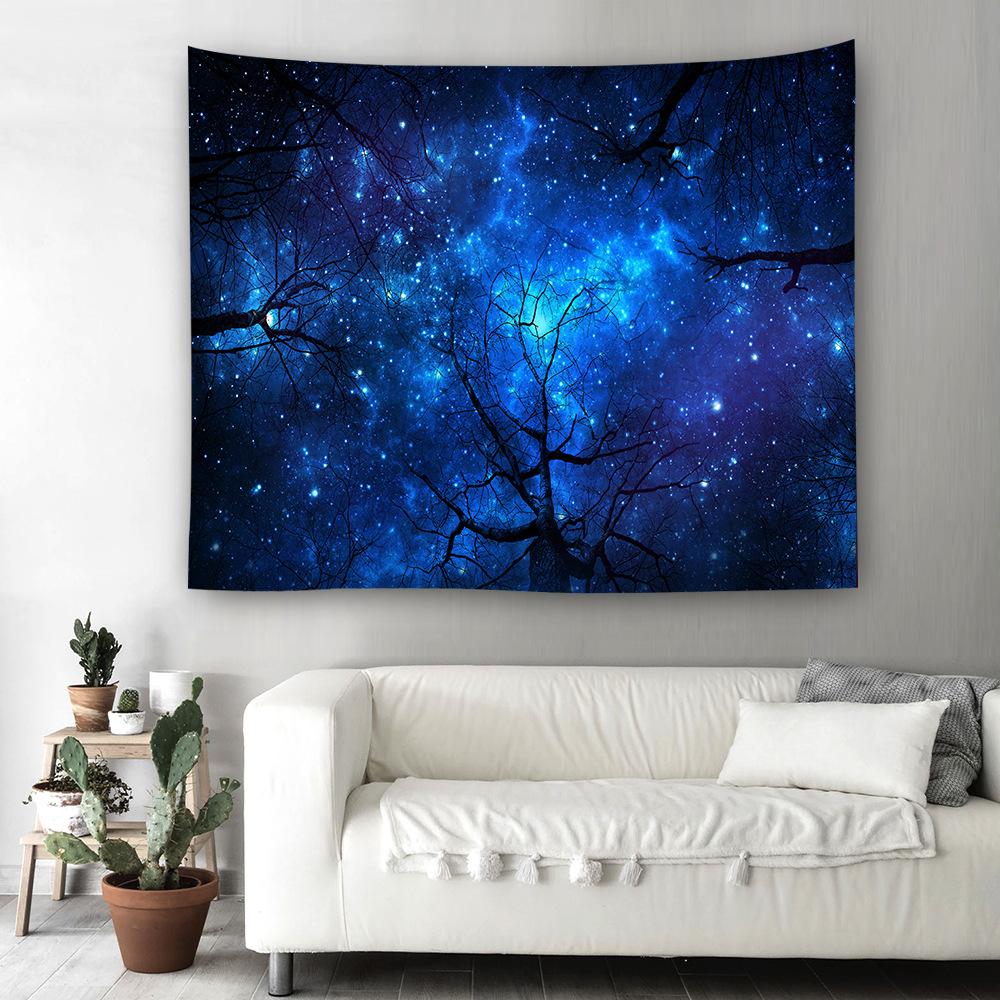 2019 Creative 3D Starry sky ตกแต่งแขวนผนัง Tapestry พรม
