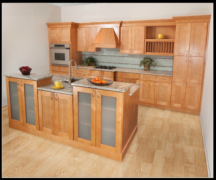 Ready Made American Standard Maple Wood Modular Kitchen ...