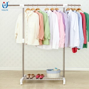 Stainless steel single pole Telescopic clothes rack