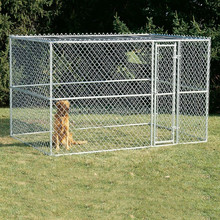 5x10x6 foot cheap chain link mesh large dog kennel with roof custom