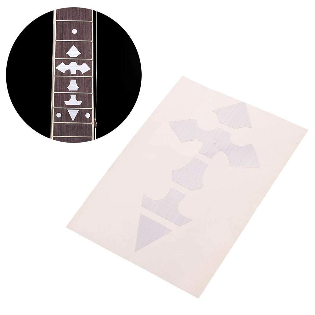 Get quotations · wxlaa fretboard cross sticker guitar marker inlay sticker for acoustic bass electric guitar decals note beginner