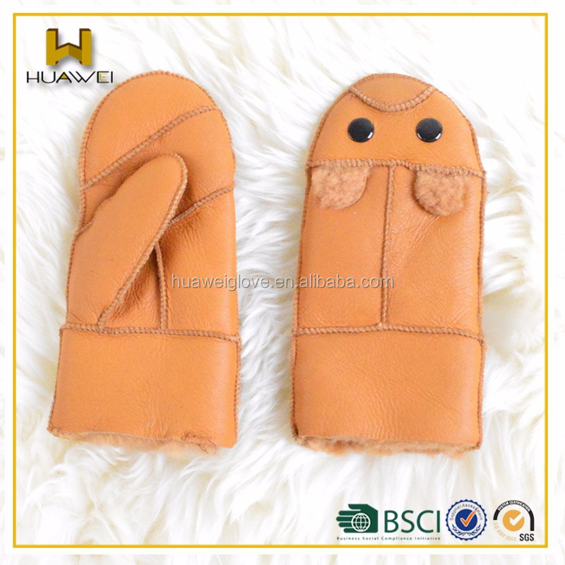 Hot Sale Stock Baby Warm Soft Winter Mitten Double Face Gloves ...