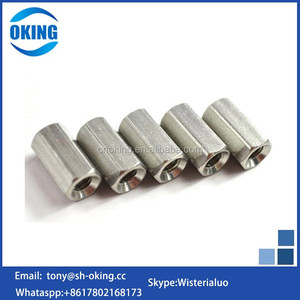 High strength long hex m4 coupling nut stainless