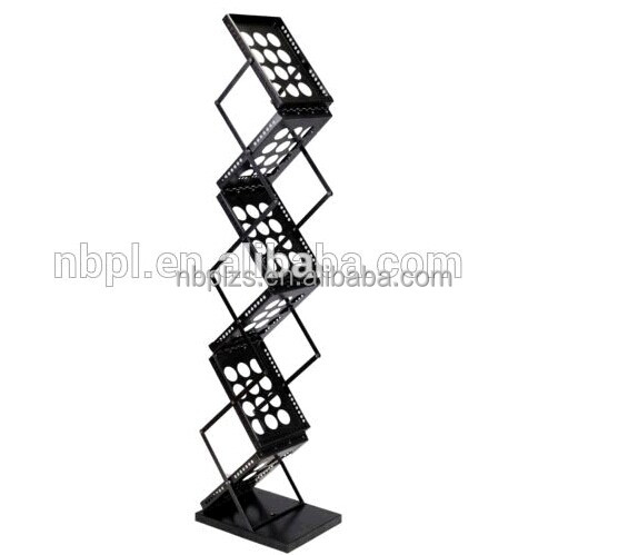High quality iron with power coated display stand A4 brochure stand holder,floor standing sign holer