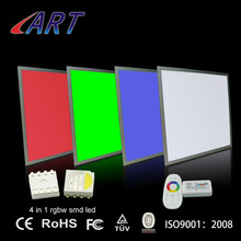 3 years warranty ultra slim ugr 19 led panel light 600*600*10mm 24vdc 2x2 led rgb+w color changing dimmable