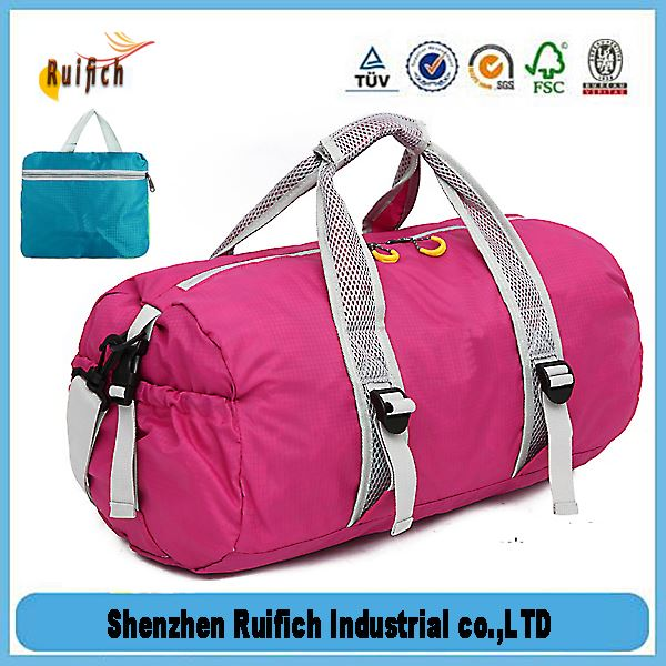 Top quality zip fold up bag,outdoor products deluxe duffle travel gym folding bag,travel stroage bag