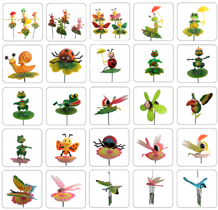 Osgoodway Newest design standard size with great price  Bee with umbrella garden stakes plastic garden decoration