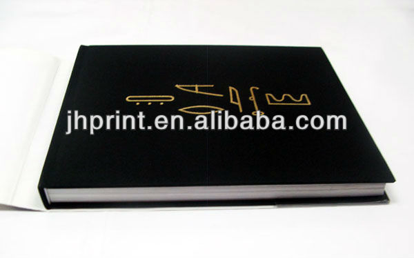 high quality Good selling coil binding hard black paper wedding photo album scrapbook printing server
