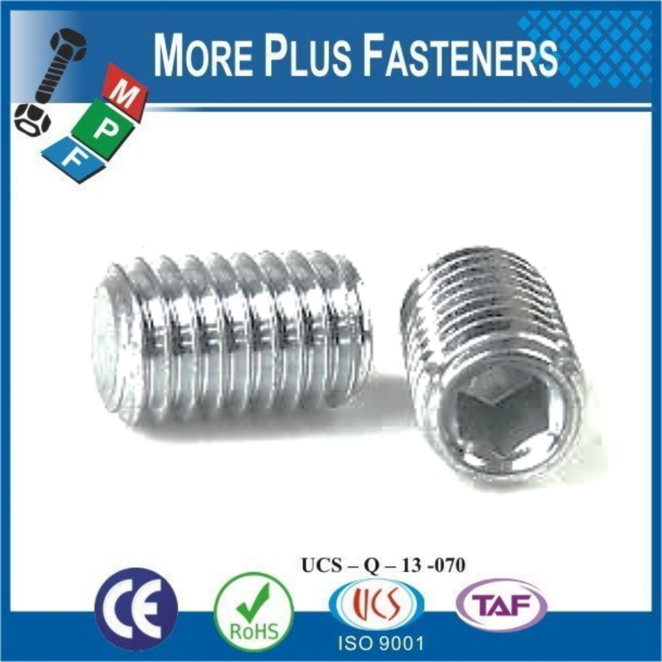 Made in Taiwan DIN 913 Grub Screw With Flat Point ISO 4026 Hex Socket Set Screw