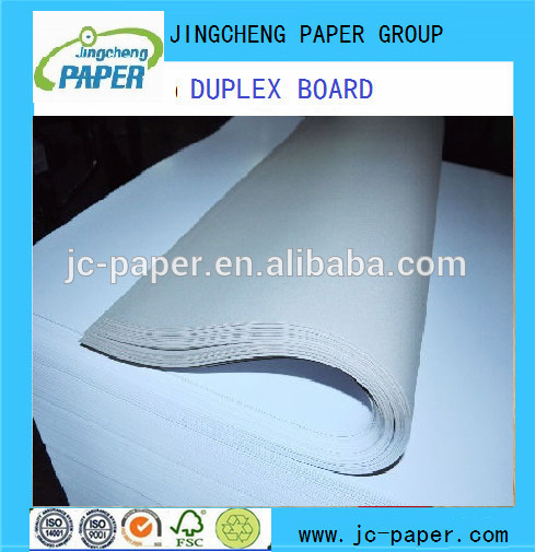 white coated duplex board with Grey back