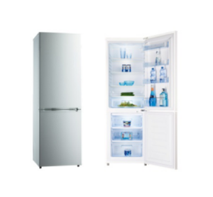 315L Good Quality Double Door Bottom Freezer Fridge Home and Hotel Use Combi Compressors Refrigerators With Mirror Glass Door