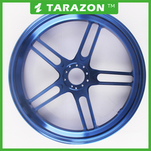 Custom forged aluminum motorcycle wheel for street bike
