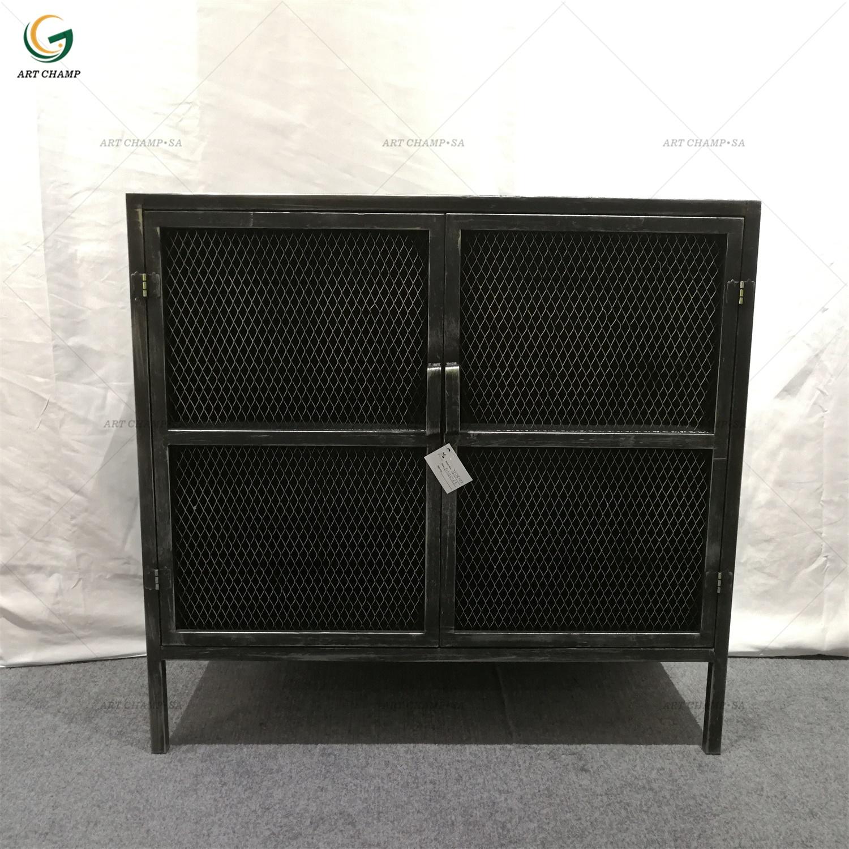 Style Black 2 Door Cabinet