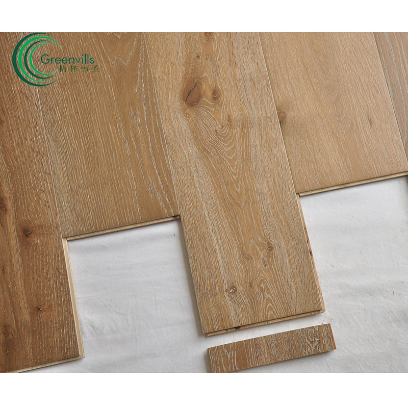Commercial engineered flooring products white oak natural wood low price 14mm multiply oak timber flooring