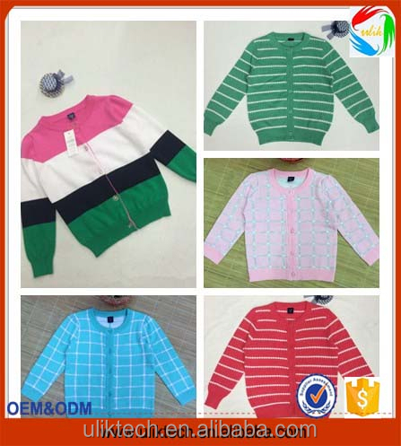 Children Groups Factory Supply computer knitted cheap factory sweater cardigan for child