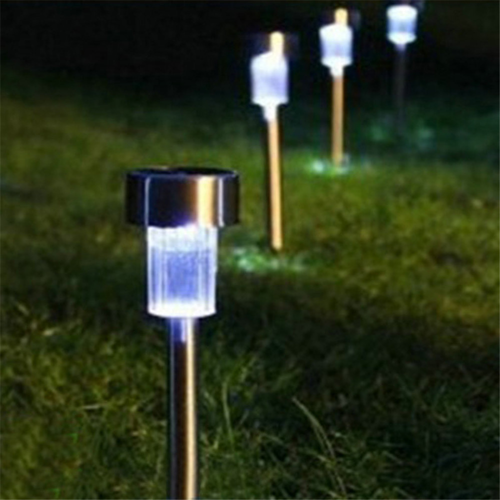 Solar Led Path Light Outdoor Garden Lawn Landscape Stainless Steel ...