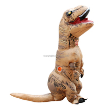 Shopping mall game halloween children cloth inflatable t rex costume Fan Operated T-Rex