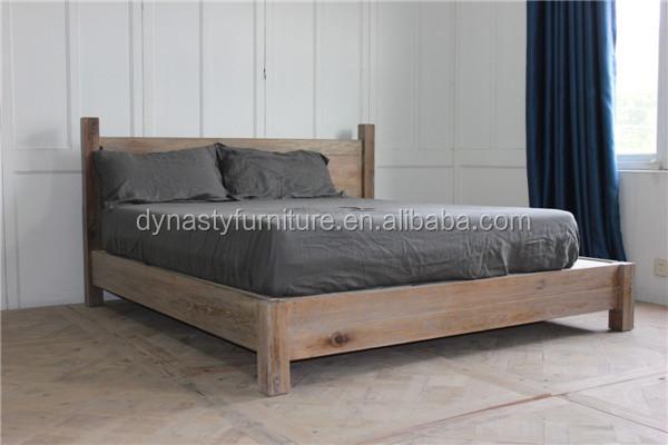 Muebles antiguos de madera dormitorio cama king size for Dormitorio king size