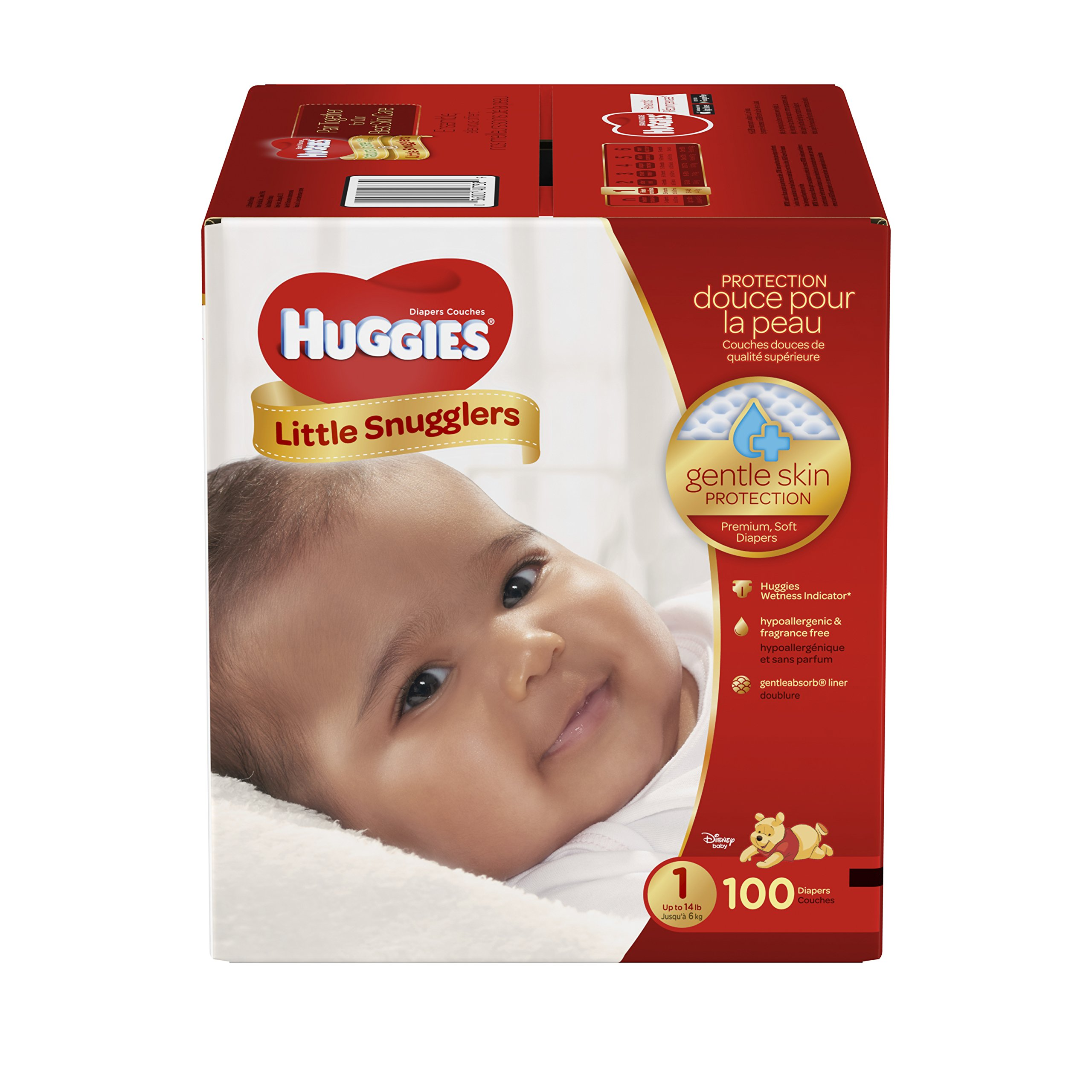 Get Quotations · Huggies Little Snugglers Baby Diapers, Size 1, 100 Count,  GIGA JR PACK (