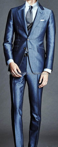 smooth softy high class fabric coat pants picture dark blue slim fit best sale custom men suit