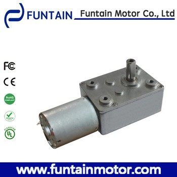 High torque worm drive gear motor dc funtain 46gf370 buy for Worm gear drive motor