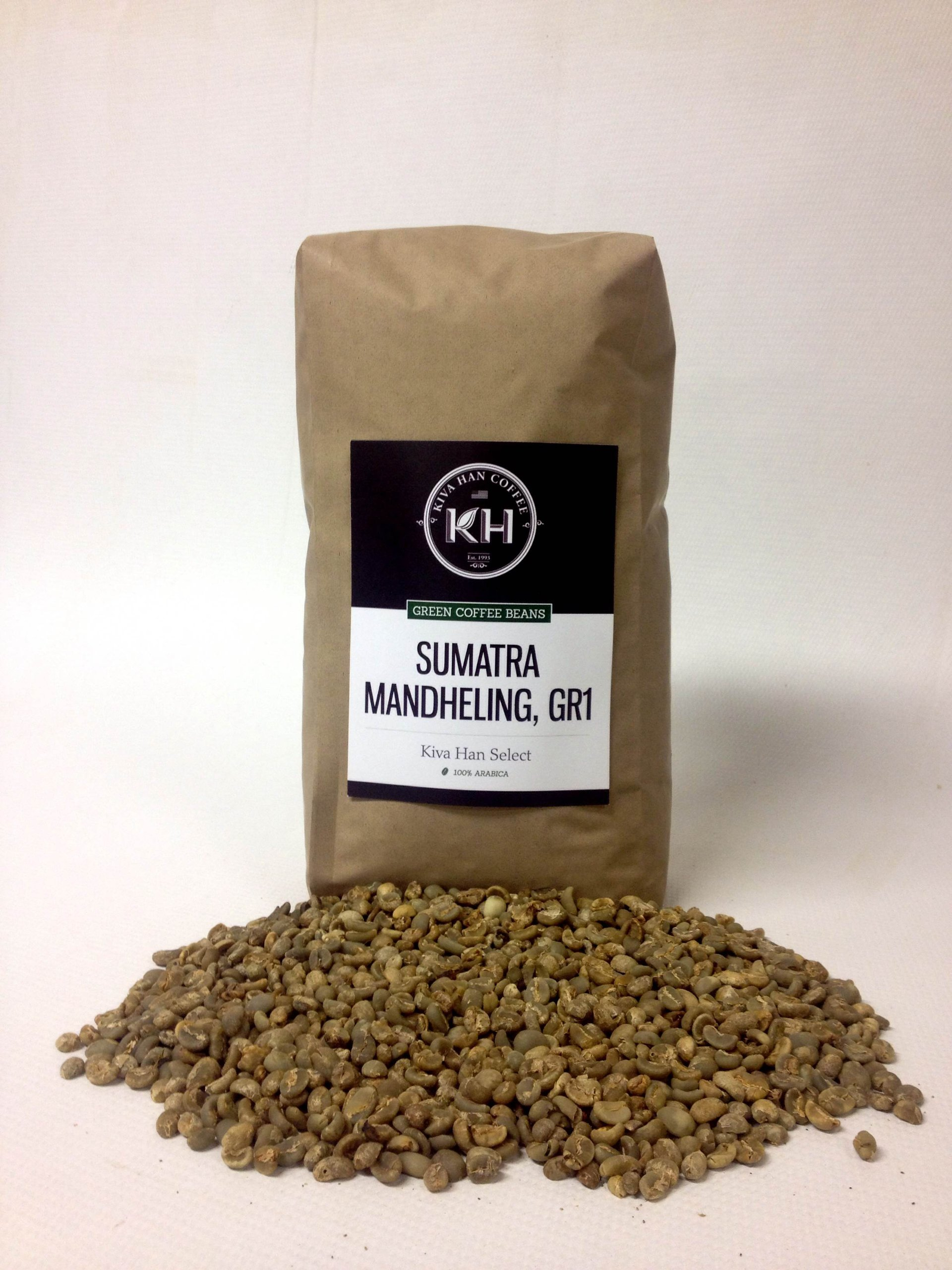 Sumatra Mandheling, Gr1 Green Unroasted Coffee Beans, 5 Lb Bag