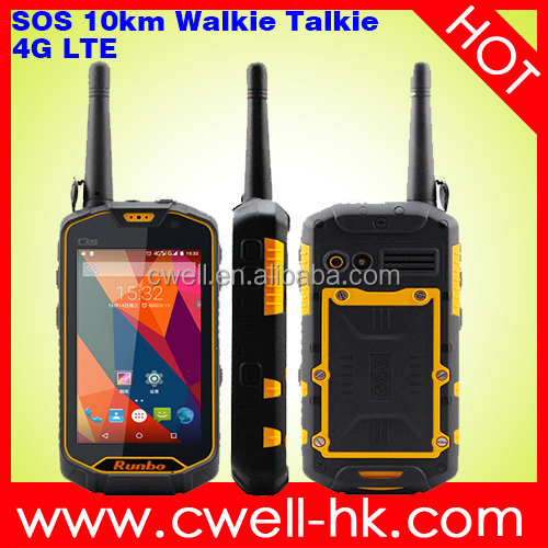 Runbo Q5 VHF/UHF Walkie Talkie Android 4G LTE Smartphone IP67 Waterproof 4.5 Inch 2GB 16GB 13mp GPS/GLONASS NFC 4200mAh