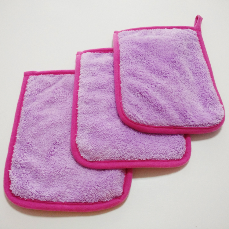 Promotional makeup remover cloth, microfiber resumble face cleaning glove