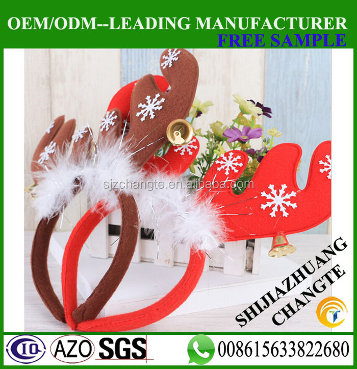 25cm <strong>Christmas</strong> ornaments <strong>Christmas</strong> ear horn with rings deer hair clip