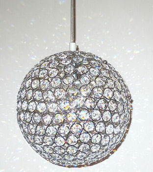 Modern k9 crystal ball pendant light kitchen living room hanging modern k9 crystal ball pendant light kitchen living room hanging lamp 1 lights e27 110 aloadofball Choice Image