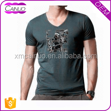 Custom V-Neck high fashion trendy t-shirts for customizing