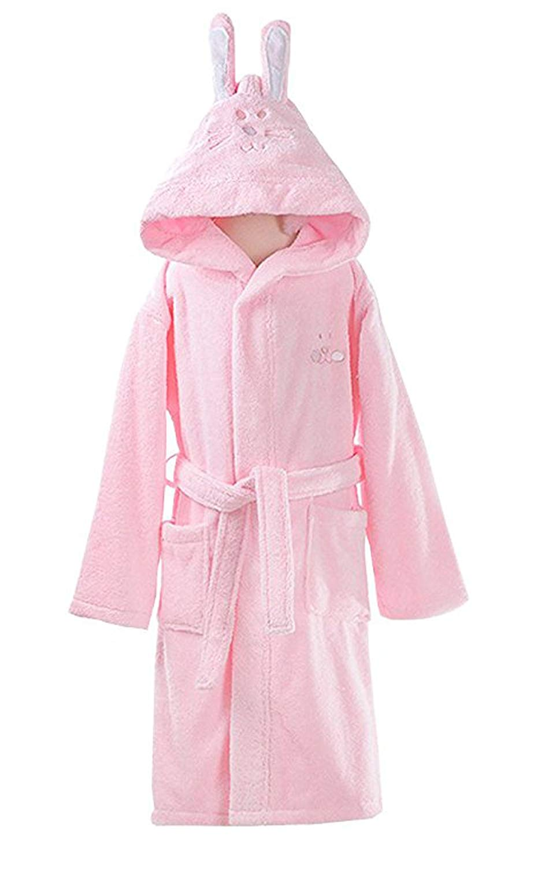 1ae8fce82f Get Quotations · Cartoon Rabbit Ear Bathrobe Nightgown Pajamas Hotel Spa  Dress Towel Plush Soft Cotton Kimono Sleepwear