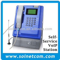 Indoor Coin Sip Payphone VoIP Base Station