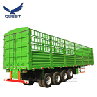 Animal Vegetable Coal Transporting Stake Fence Semi Trailer For Sale