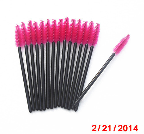 Best sellers pink disposable mascara brush for makeup factory price supply directly