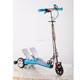 Three wheels folding dual pedals kick scooter for kids