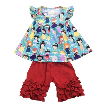 8197af3c761f Baby clothes in bangkok wholesale green smock top and floral print icing  short baby girl clothes