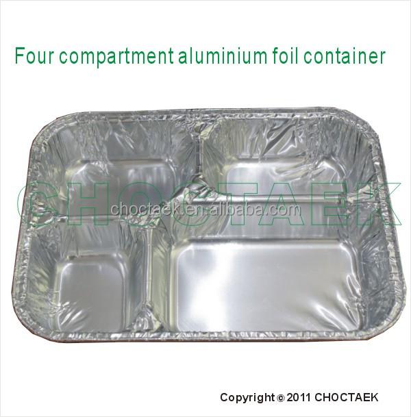 Four Compartment Disposable Aluminium Foil Container Buy