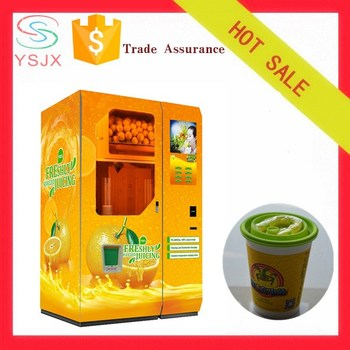 Large capacity automatic orange juice vending machine