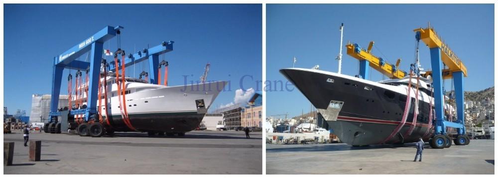 Yacht Hydraulic Crane : Hydraulic ton travel lift boat lifting